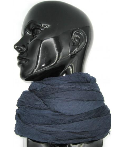 Damenstola in Modal und Seide Blau Sermoneta Gloves