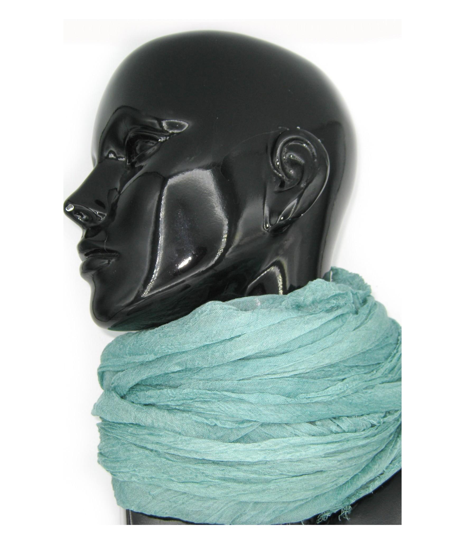 Ladies Stole in Modal and Silk Pearl green Sermoneta Gloves
