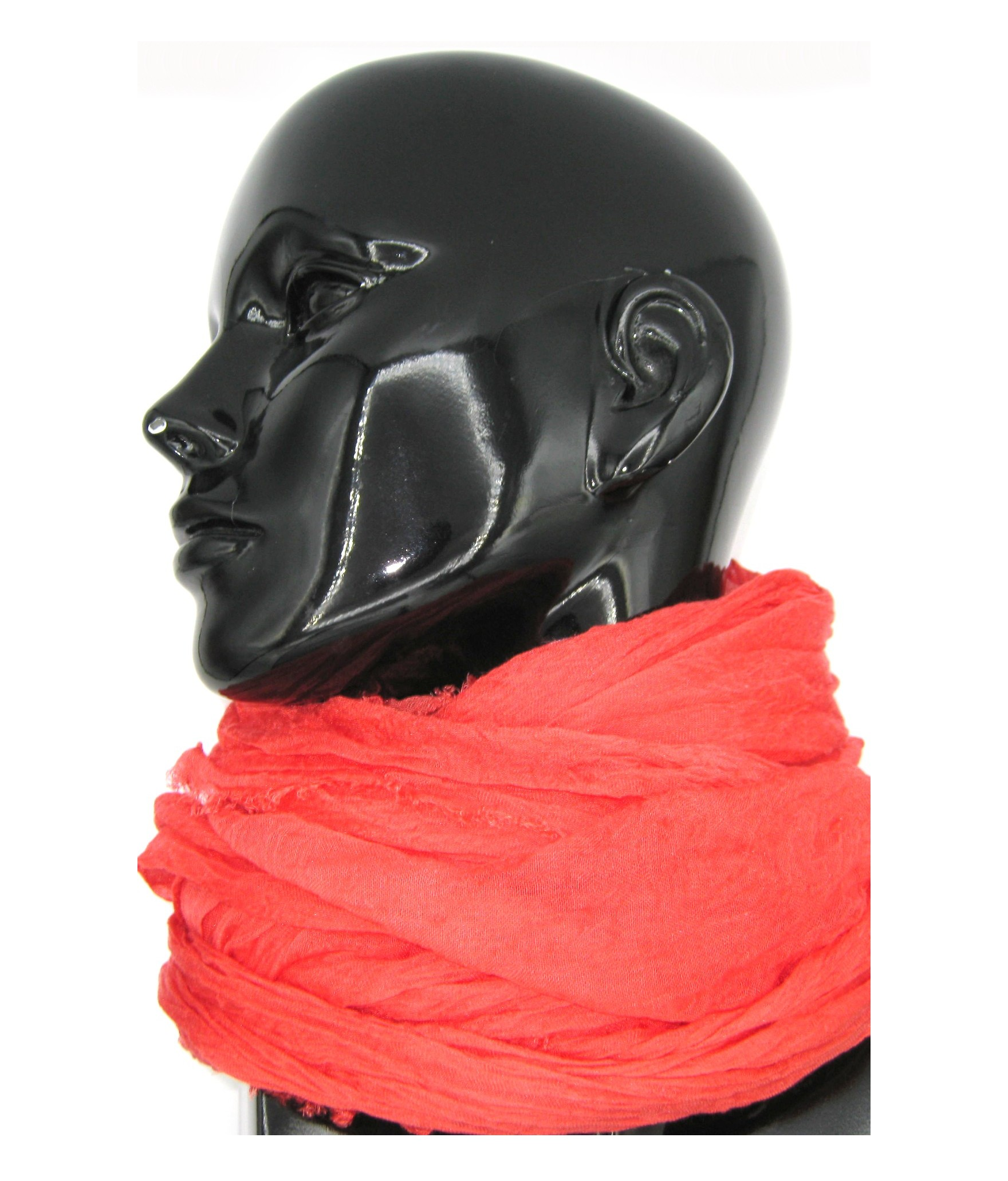 Ladies Stole in Modal and Silk Coral Red Sermoneta Gloves